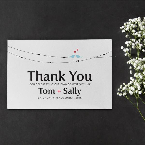 Printable DIY Engagement Thank you Card