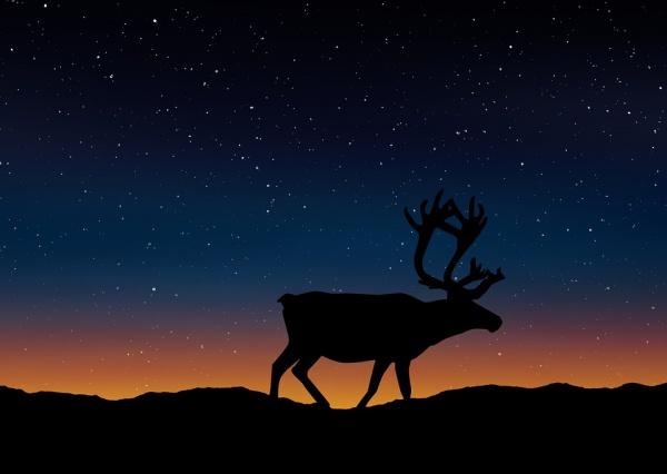 Printable Deer Silhouette