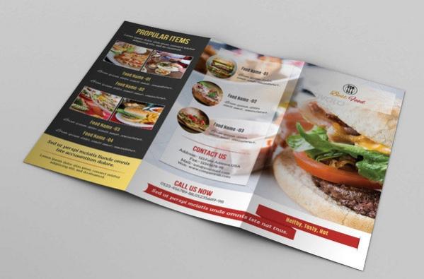 Printable Food Menu Design