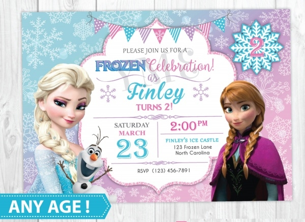 Printable Frozen Birthday Party Invitation