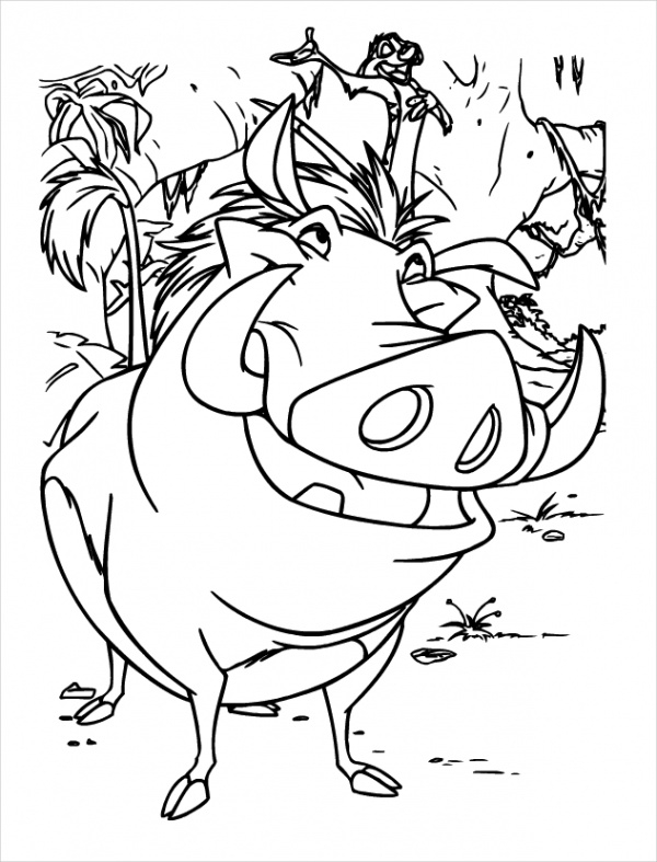 Printable Lion King Coloring Page