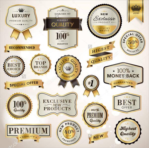 Printable Luxury Labels
