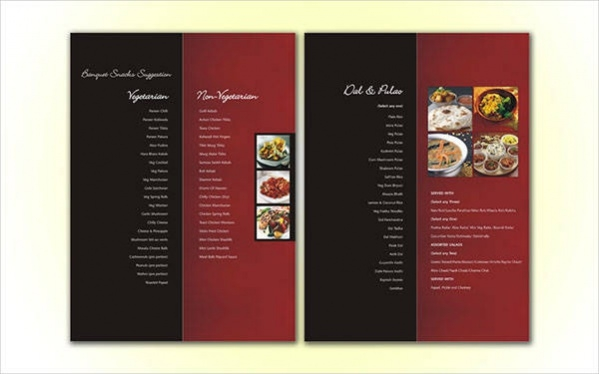 Printable Menu Card Design