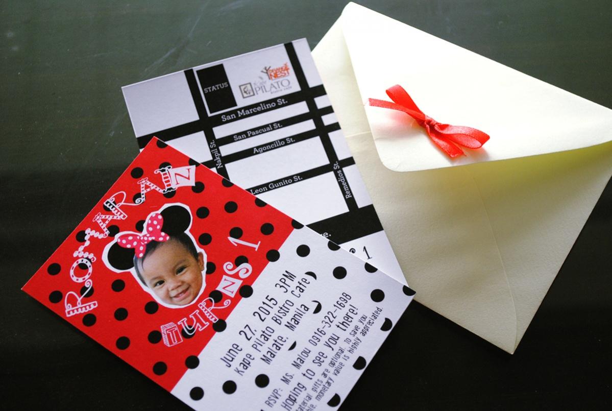 Printable Minnie Mouse Invitation