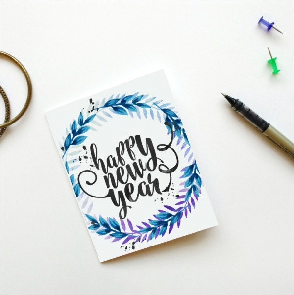 Printable New Year Greeting Card