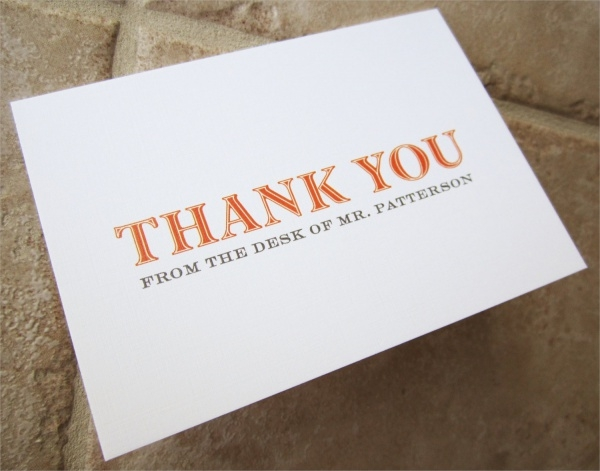 Printable Personlised Thank You Cards