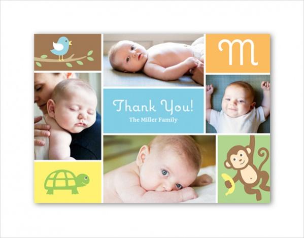 Printable Photo Thank You Card