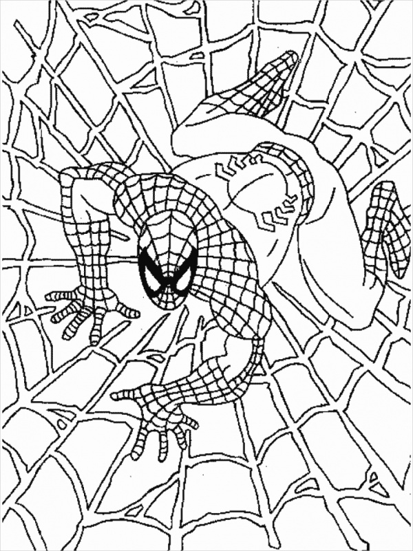 printable spiderman coloring page1