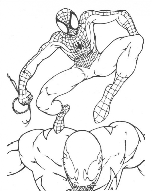 printable spiderman coloring page3