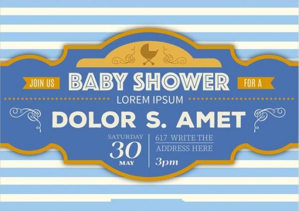 Printable Vintage Baby Shower Invitation