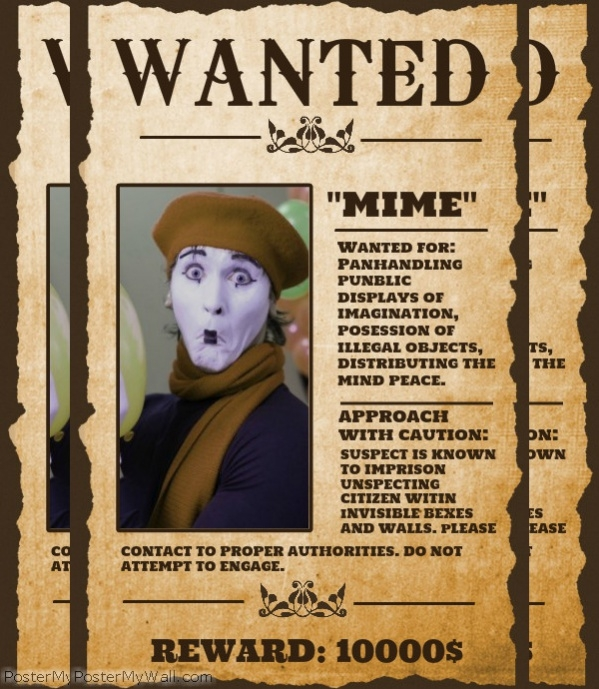 Playful image pertaining to printable wanted posters