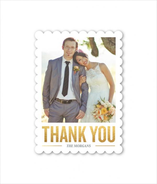 Printable Wedding Thank You Card