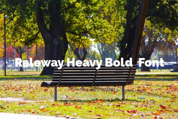 Raleway Heavy Bold Font