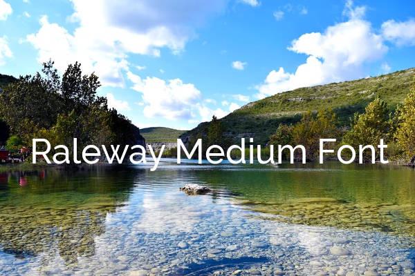 Raleway Medium Font