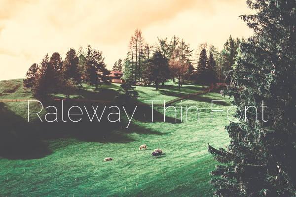 Raleway Thin Font
