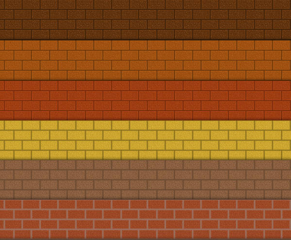 Realistic Brick Photoshop Patterns