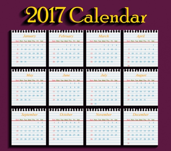 Realistic School Calendar