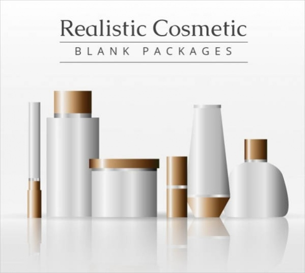 Realistic cosmetic product packaging