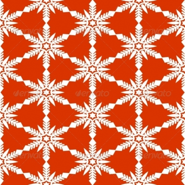 Red Colored High Quality Snowflake Pattern