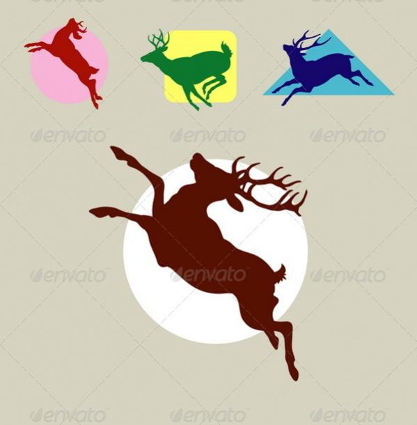 Reindeer Deer Silhouette
