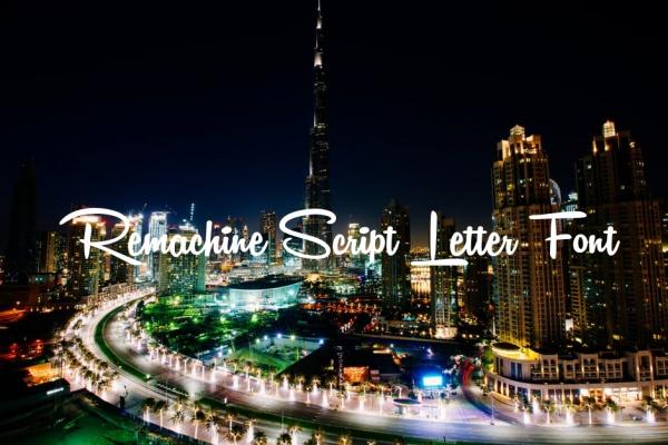 Remachine Script Letter Font