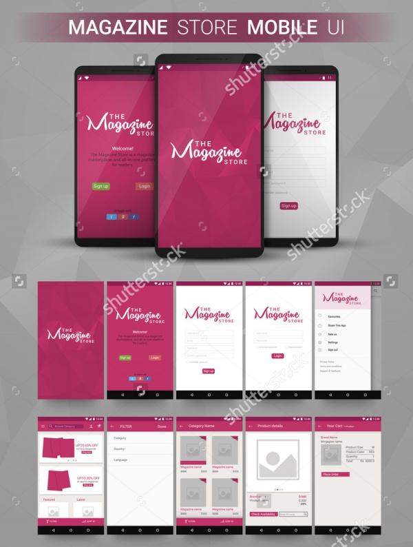 Responsive Magazine Store Ui Design