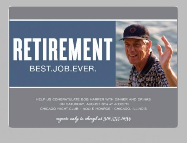 Retirement Photo Invitation