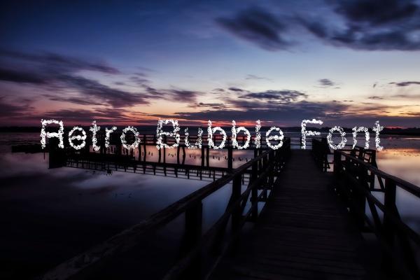 Retro Bubble Font