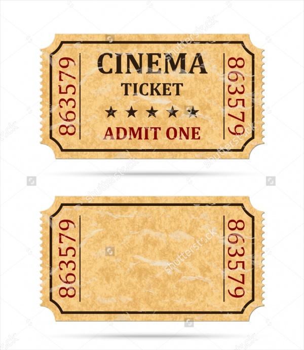 Retro Cinema Ticket Design