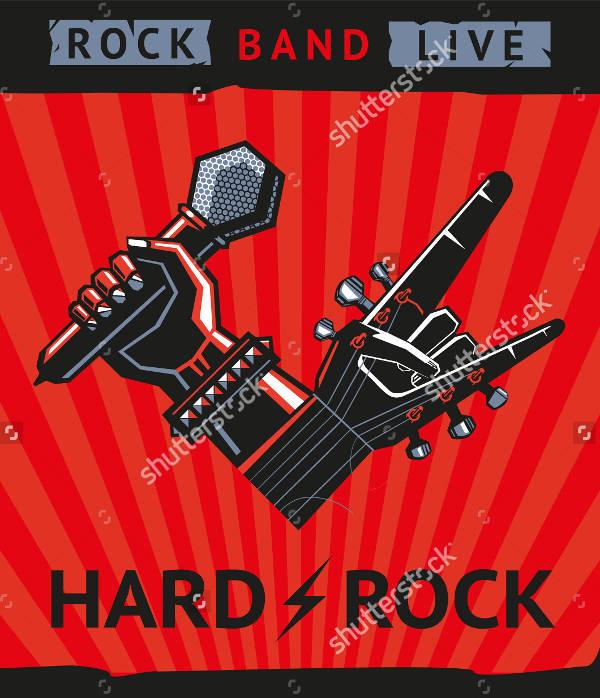 Retro Hard Rock Concert Poster