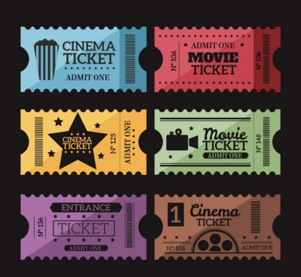 Retro Movie Tickets