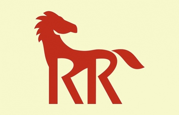 Retro Red Horse Silhouette