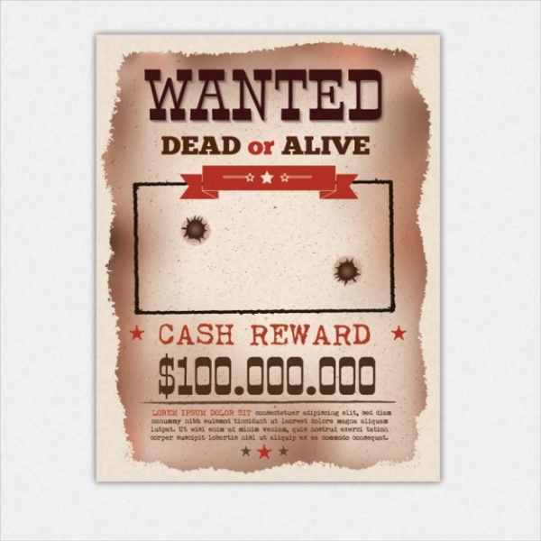 Retro Wanted Poster