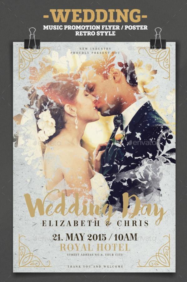 Retro Wedding Poster Design