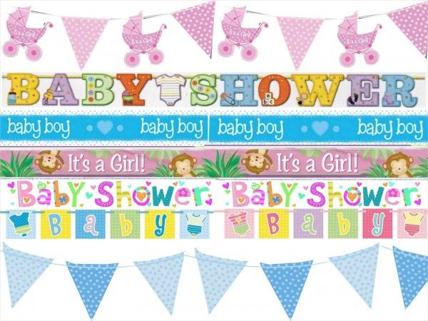 Ribbon Baby Shower Banner
