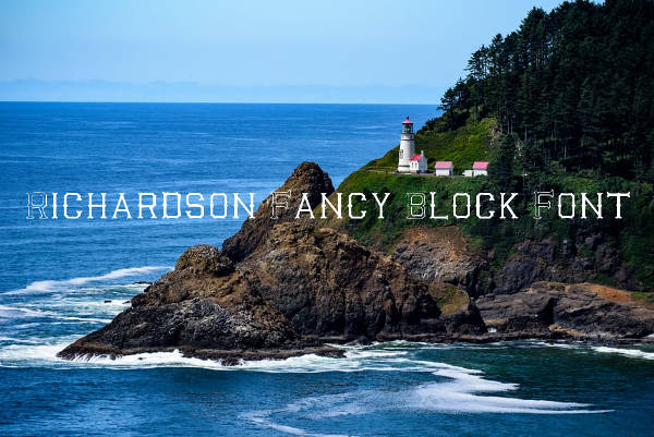 Richardson Fancy Block Font