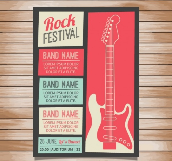 Rock Festival Concert Poster