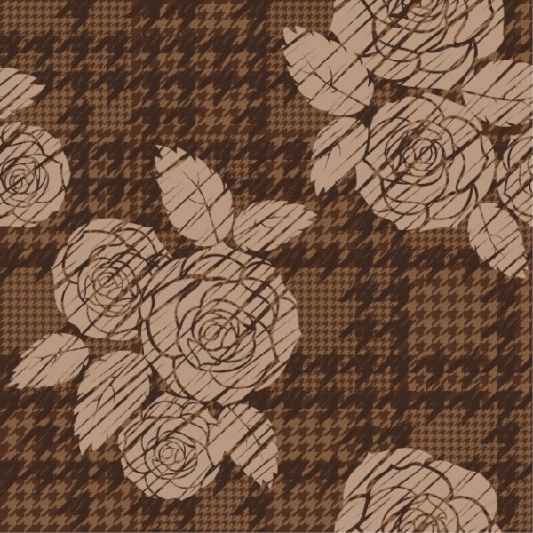 Rose houndstooth pattern