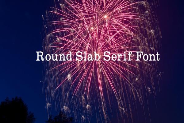 Round Slab Serif Font