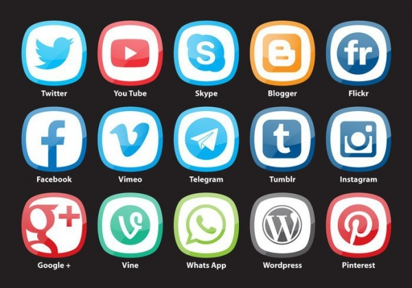 Rounded Square Social Media Icons