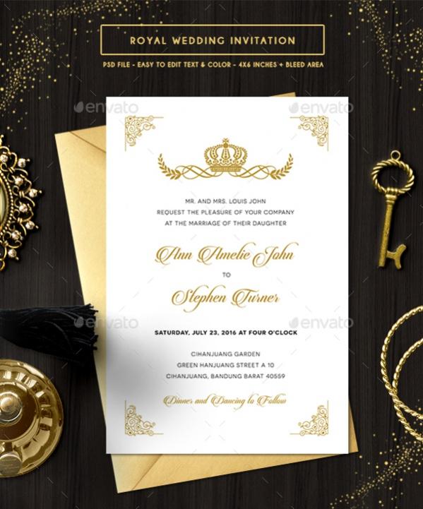 Royal Wedding Diy Invitation