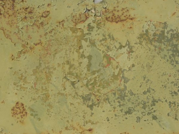 Rusted Green Paint Texture