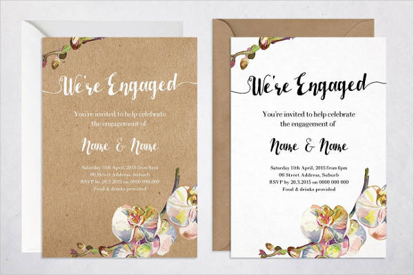 19 Engagement Party Invitation PSD Vector EPS AI Illustrator – Engagement Party Invitations Cheap