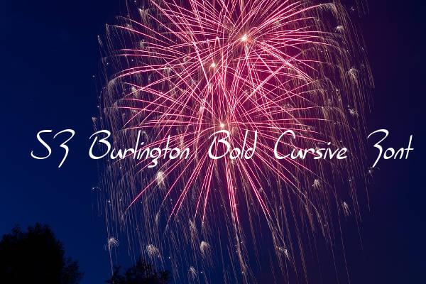 SF Burlington Bold Cursive Font