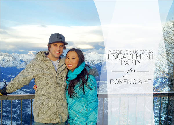Sample Engagement Party Invitation