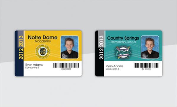 Sample School Id Cards