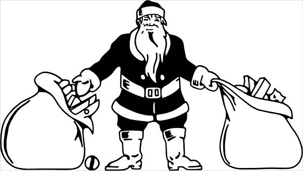 Santa With Toys Clipart