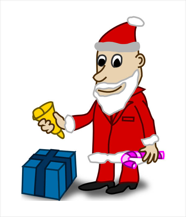 Santa with Gifts Clipart