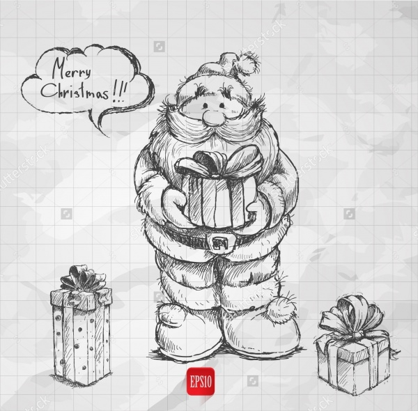 Santaclaus Christmas Drawings