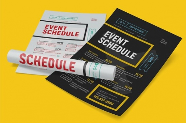 schedule event poster
